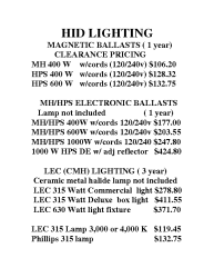 HID Lighting Systems