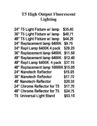 T5 & CFL Pricing