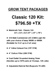 Classic 120 Grow Tent Package
